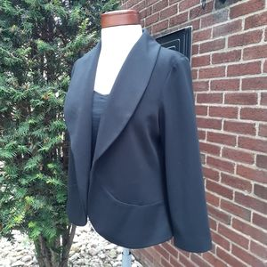 Chico's Ponte Stretch Crop Career Jacket Blazer
